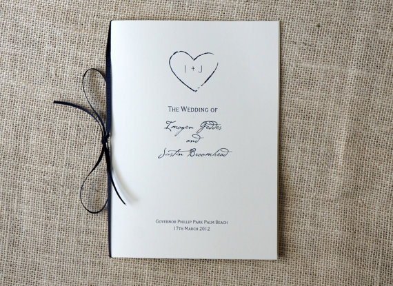Simple Rustic Wedding Programs With Ribbon By DawnCorrespondence 10000
