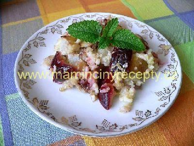 Rýžový nákyp s ovocem a čokoládou