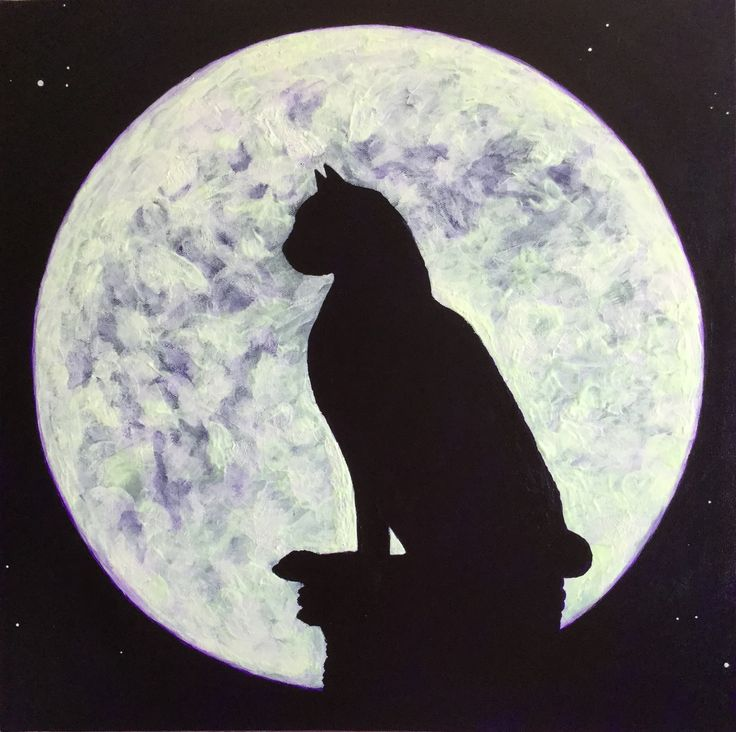 Lunar cat Moon includes phosphorescent paint, which gives it a magical feel when viewed in person.