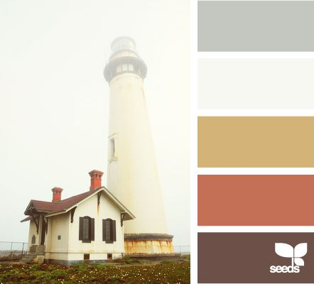 more possible office colors - foggy tones: Color Palettes, Design Seeds, Color Combos, Color Schemes, Lighthouses, Living Rooms Color, Foggy Tones, Master Bedrooms, Designseeds