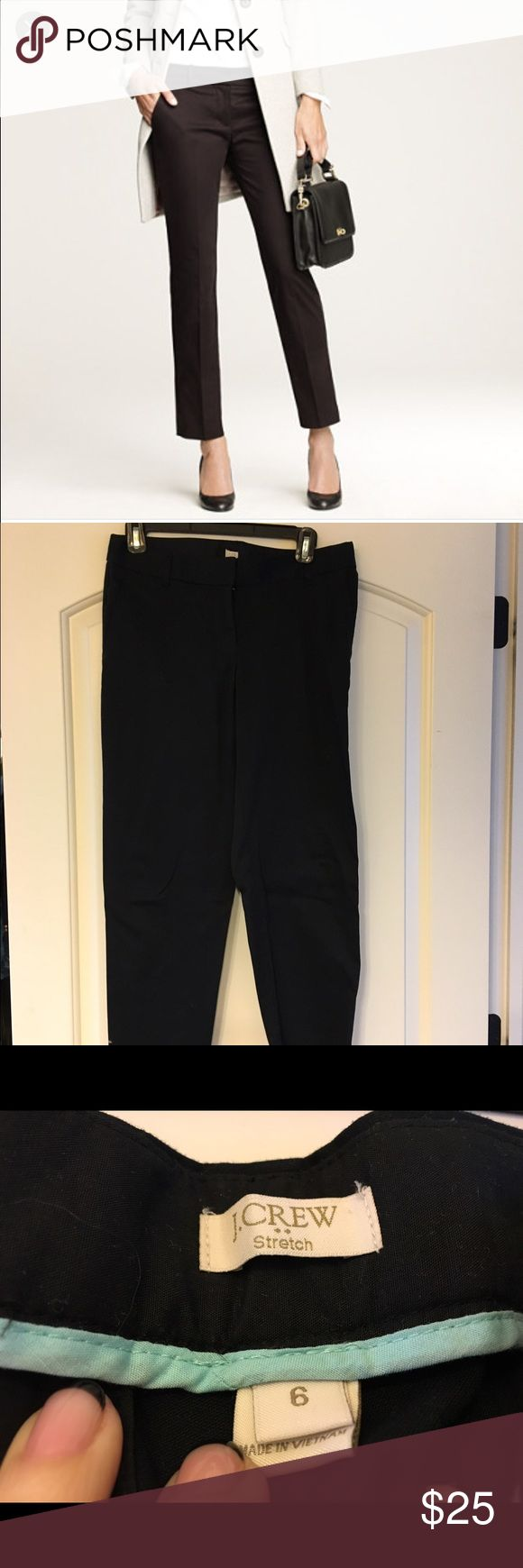 Jcrew cafe Capri Cotton, cropped pants. Black. Like new J. Crew Pants Ankle & Cropped