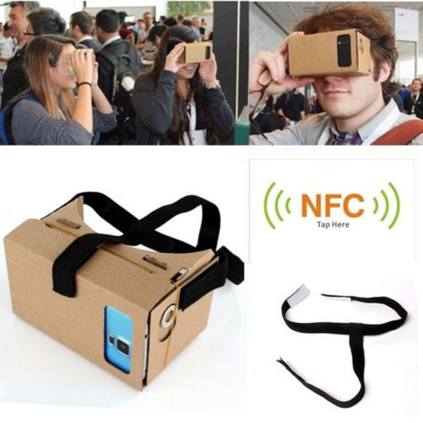 Google Cardboard 3D Vr Virtual Reality Glasses with NFC Tag Head Mount DIY NEW #UnbrandedGeneric