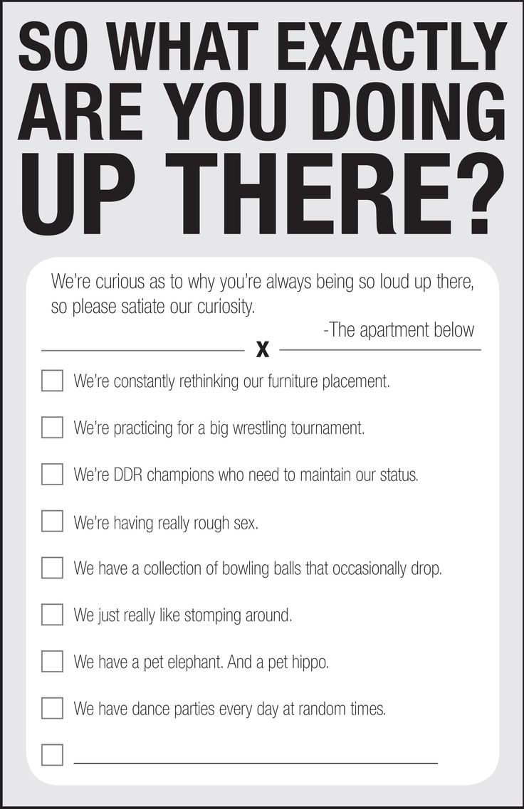 For anyone with loud upstairs neighbors.