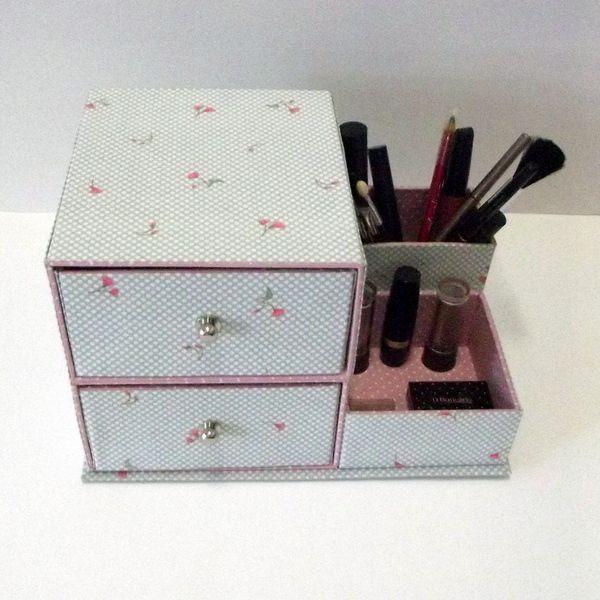 Kit de cartonagem - Porta Maquiagem