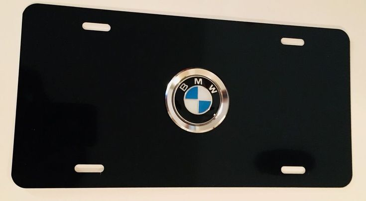 3D+Custom+License+Plate+/+BMW+License+Plate+On+Black+License+Plate