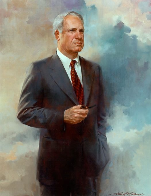 This is an oil portrait painted by John Howard Sanden......a GREAT artist