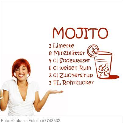 Wandtattoo Küche - Cocktail Rezept Mojito