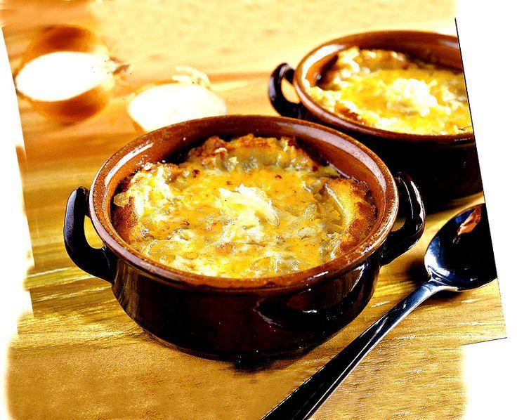 zuppa di cipolle gratinate