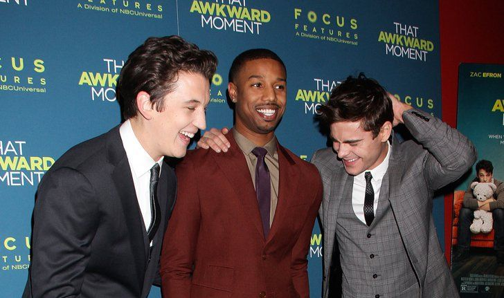 Pin for Later: Celebrity Shenanigans Make Red Carpets Way More Fun The Cast of That Awkward Moment Getting the Giggles