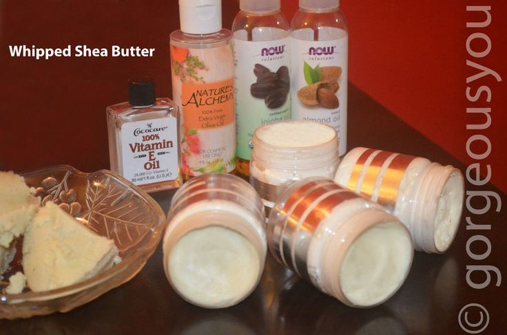 Whipped Unrefined Shea Butter Infused With Almond,Jojoba&Vitamin E Oil 60 Grams
