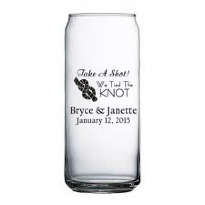 This unique tallboy beer can glass measures 16 oz and stands just over 6 7/16 inches and is the ideal for tabletop service in restaurants, catering environments, or anywhere else where serving Beer. Great glass for that wedding or special event.