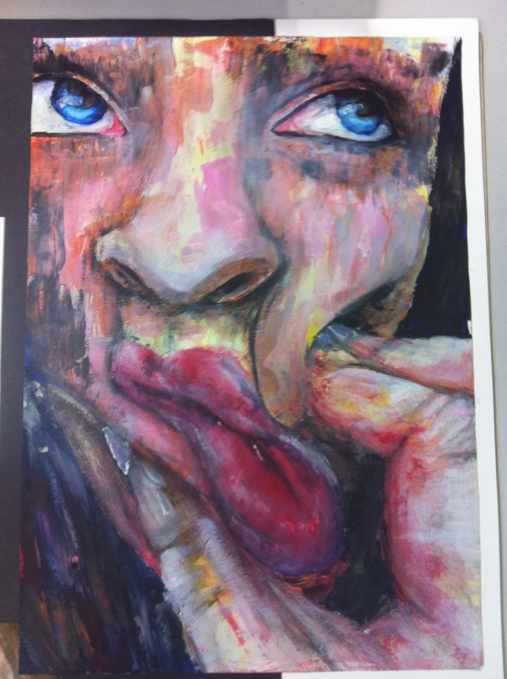 Art A level final piece, Acrylic paint