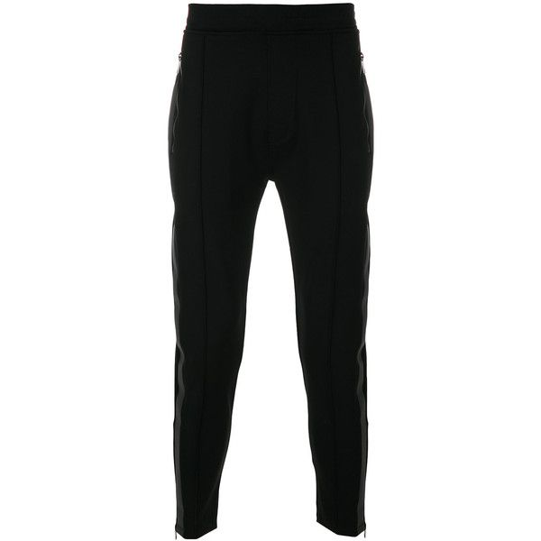Neil Barrett contrasting side panel skinny trousers ($1,090) ❤ liked on Polyvore featuring men's fashion, men's clothing, men's pants, men's casual pants, black, mens stretch waist pants, mens elastic waistband pants, mens skinny fit dress pants, mens super skinny dress pants and mens skinny pants