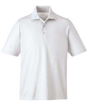 'LAUNCH'SNAG PROTECTION MICROSTRIPED POLO.   Yes, snag resistant and moisture wicking