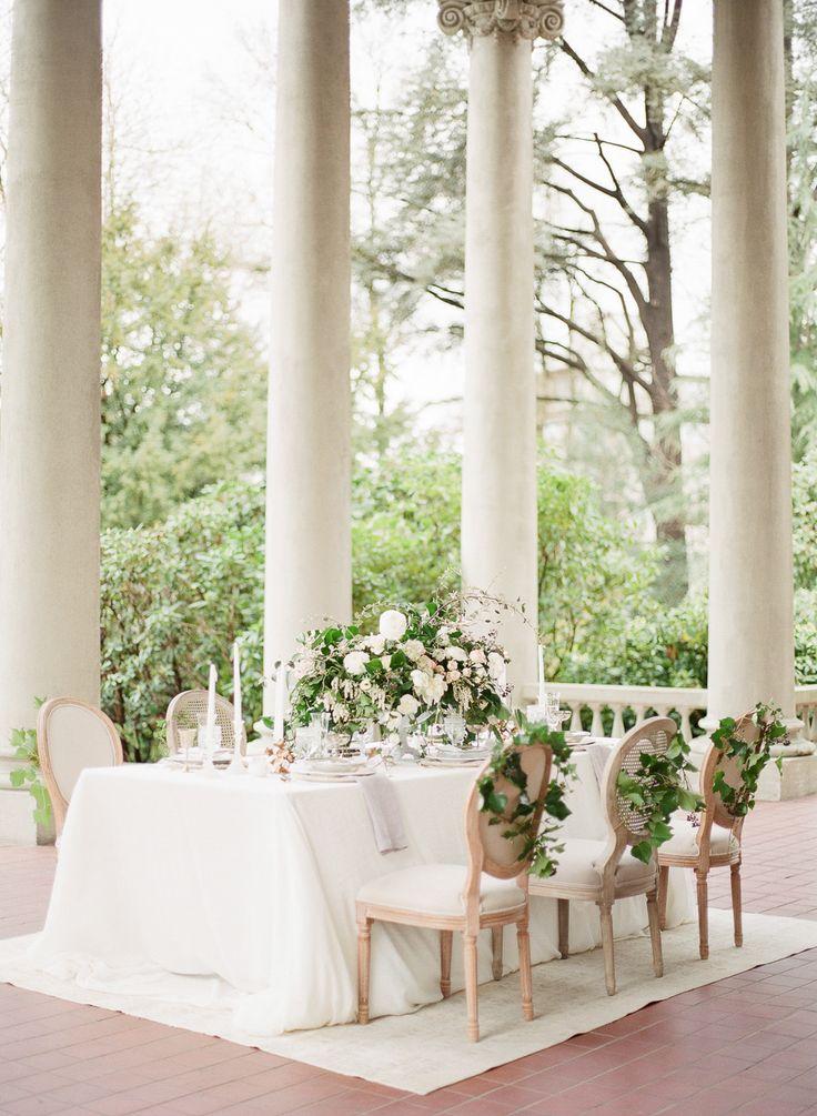 Hycroft Manor | Photography: Vasia Photography - www.vasia-weddings.com Photography: Artiese Studios - artiesestudios.com  Read More: http://www.stylemepretty.com/2015/05/17/elegant-ethereal-wedding-inspiration/