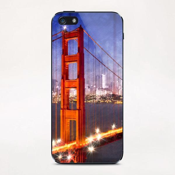 City Art Golden Gate Bridge Composing iPhone & iPod Skin by Melanie Viola