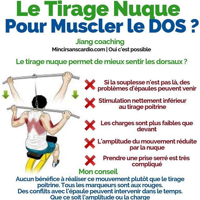 Le Tirage Nuque Pour Muscler Son Dos Quand J Ai Commencé La Musculation Il Y A Longtemps On M A Dit Que Le Tirage Nuque Workout Food Workout Build Muscle