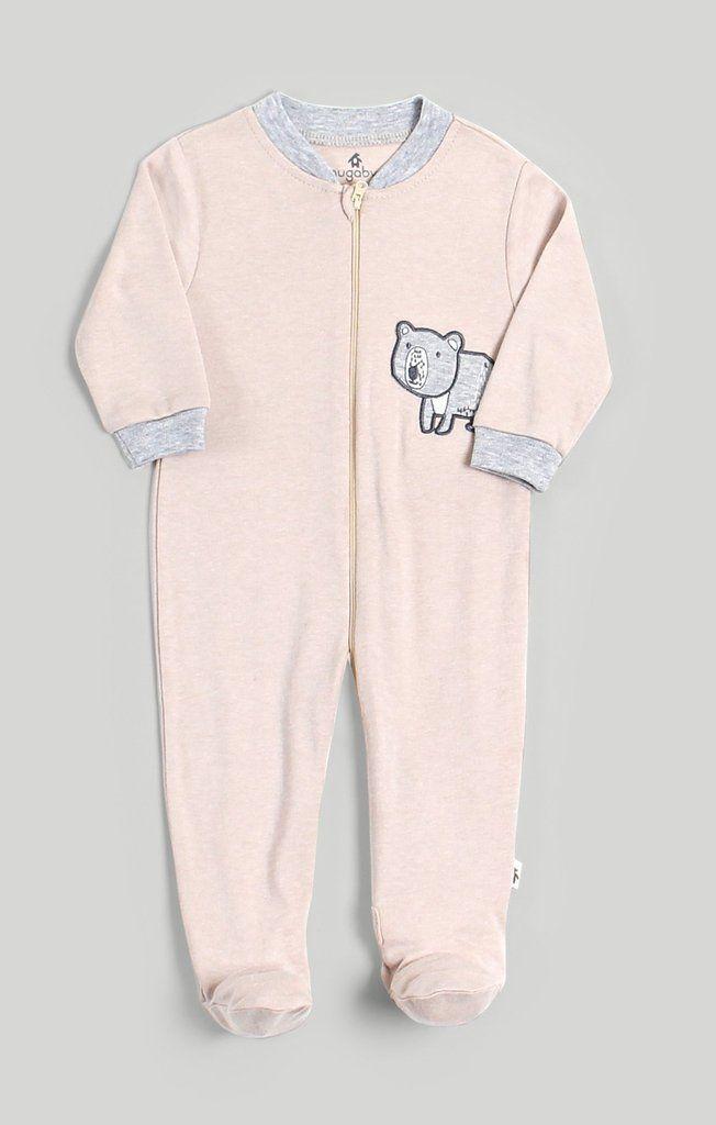 806ad0a6229e Snugabye Pink   Grey Bear Sleeper  baby  babywear  clothing ...