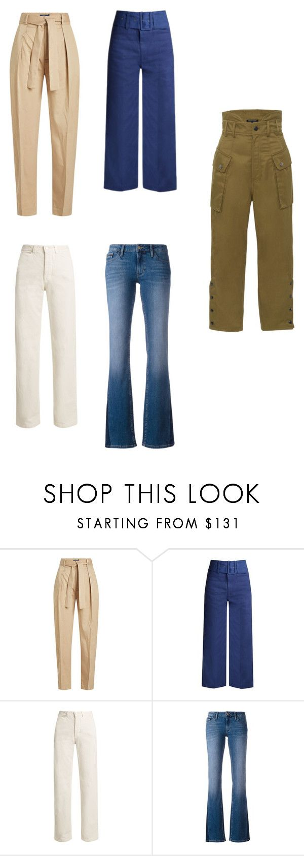 """""""hourglass pants"""" by elatralala ❤ liked on Polyvore featuring Polo Ralph Lauren, Sea, New York, Rachel Comey, Calvin Klein Jeans and Marissa Webb"""