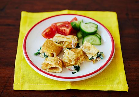 Spinach and Cheese Omelette Bites