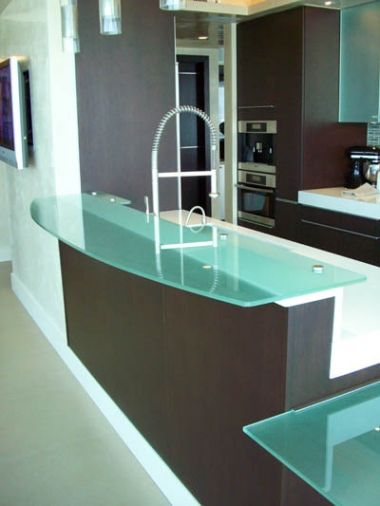 Encimeras de cristal templado dise o de cocinas linea3cocinas madrid encimeras de - Encimeras de cocina de cristal ...