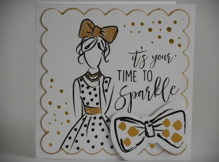 Mini Card made by Phillipa Lewis using Craftwork Cards Fabulous Fashionista Collection.