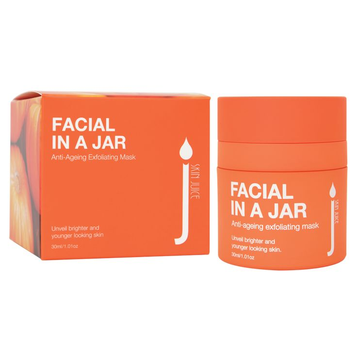 Facial in a Jar Anti Ageing Exfoliating Mask $75 AU  Unveil bright and younger looking skin.   Reveal a fresh, healthy and youthful glow with this safe and easy-to-use at home facial treat. This exfoliating mask is infused with resurfacing malic and mandelic acid, these work together with pomegranate and pumpkin enzymes to visibility smooth and refine the skin. Experience sweet, herbaceous and fruit aromas from geranium + peru balsam