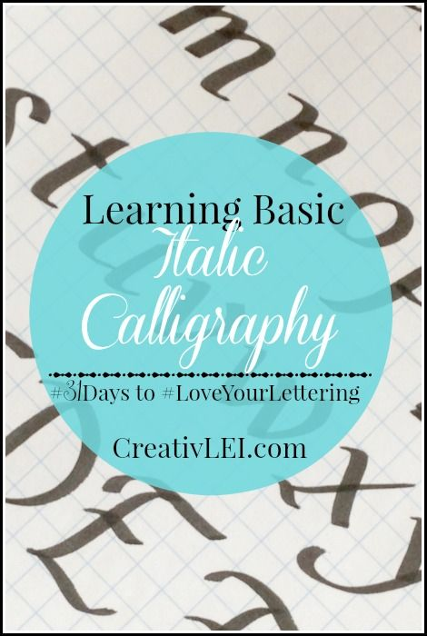 Learning italic calligraphy loveyourlettering