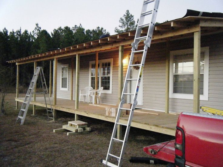 mobile home porches | front porch being built onto double wide - belindajowrites com
