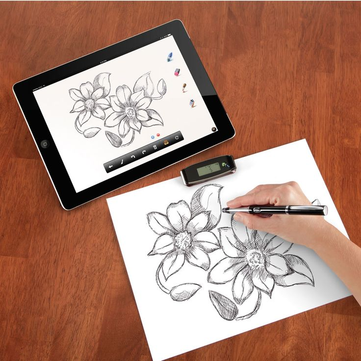 With this awesome gadget pen you can instantly transfer, notes, sketches, drawings and art straight to your iPad or iPhone! Stores up to 100 files.