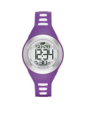 Skechers  Womens Purple Silicone Digital Watch