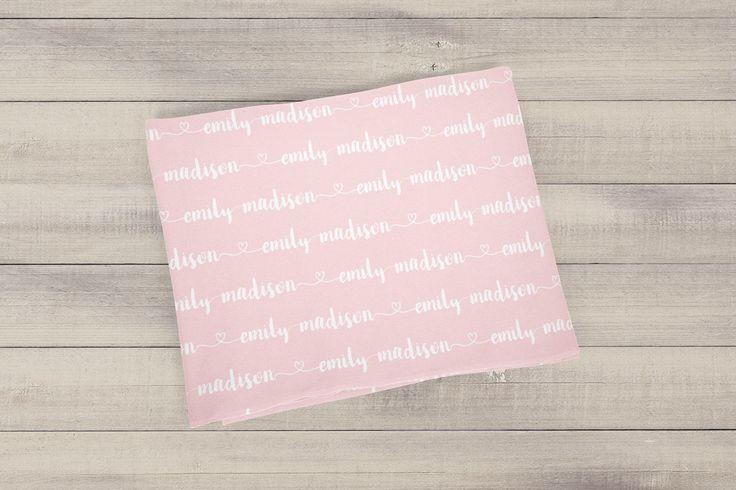 Monogrammed Baby Blanket Personalized Baby Blanket Baby