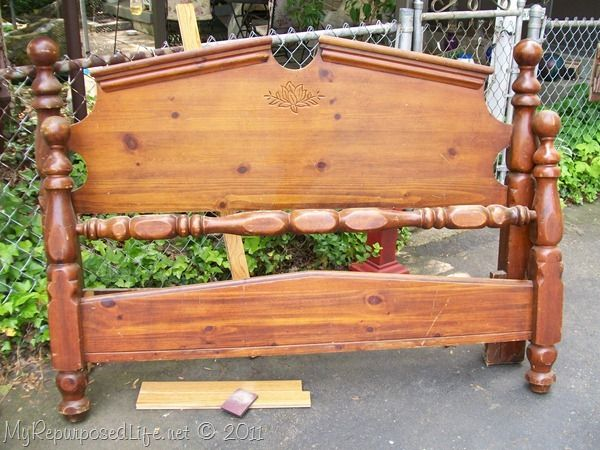 Bench made with headboard
