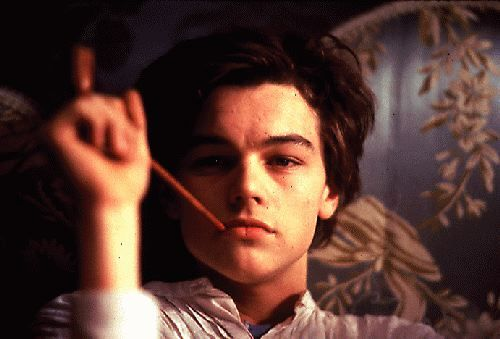 Total Eclipse 1995 movie by Agnieszka Holland , as Arthur Rimbaud young Leo Dicaprio . If You love poetry it is a must .