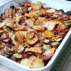 Briam (Greek potato and courgette bake) @ allrecipes.co.uk This is AMAZING!!!