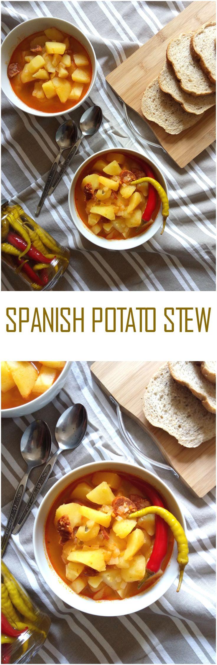 Spanish Potato Stew (Patatas a la Riojana) #potatostew #spanishfood