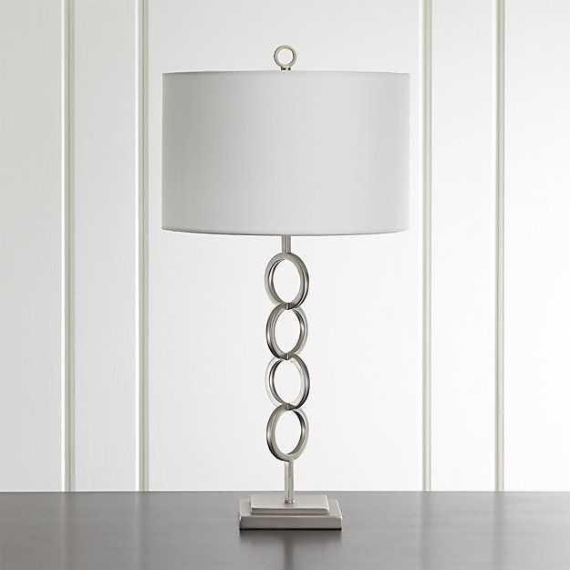 Axiom Brushed Silver Table Lamp | Crate and Barrel
