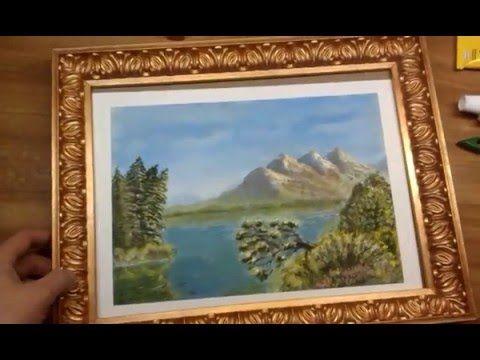 Как сделать красивую рамку для фото или картины из плинтуса - YouTube