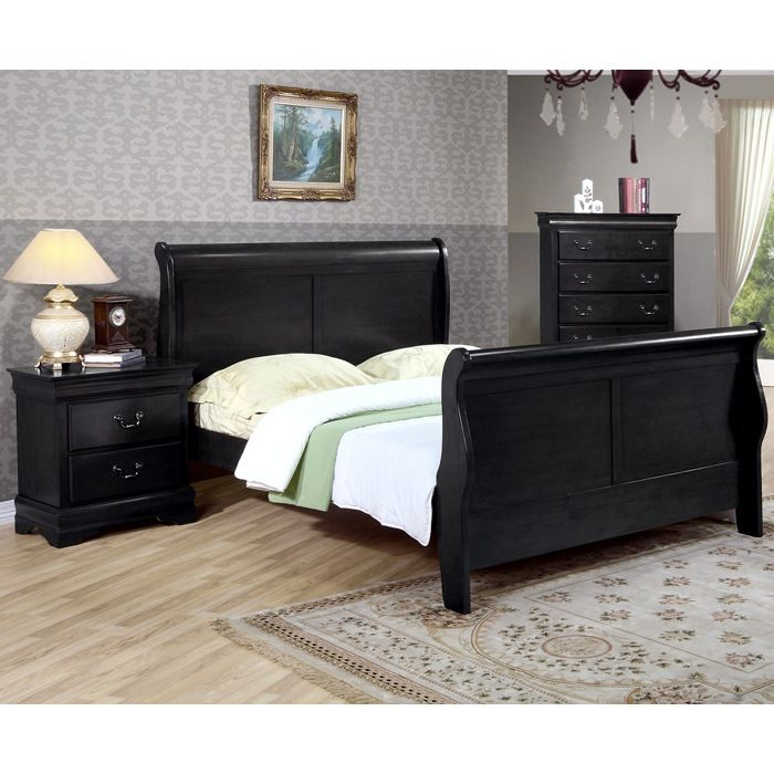 Found It At Www Dcgstores Com Louis Philippe Black Sleigh Bed