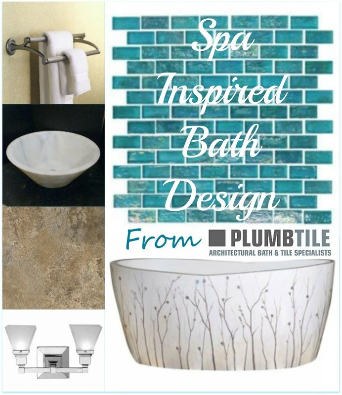Spa Inspired Bath Design Ideas from PlumbTile