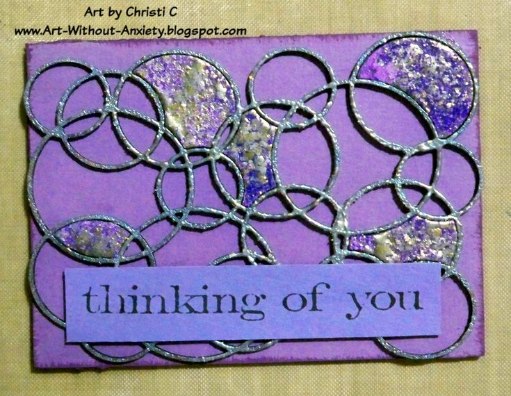 Old P&G DT Project - Bubble Frame #ATC