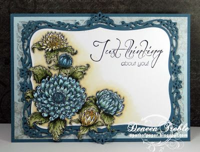 Heartfelt Creations Dahlia Bouquet Card, copic markers, spellbinders