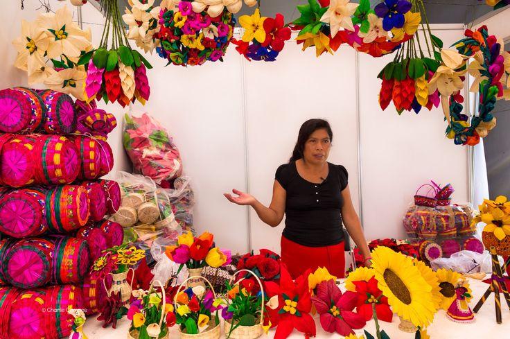 Artesanía decorado en hojas de maíz de Guerrero