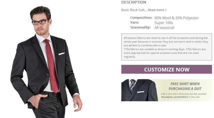 Design Your Custom Suit at Blackpier - step 2