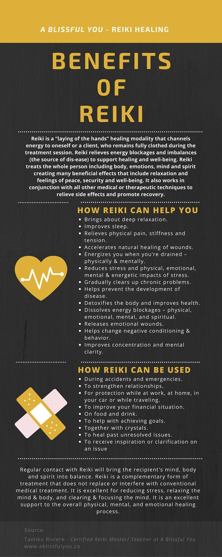 benefits of reiki infographic
