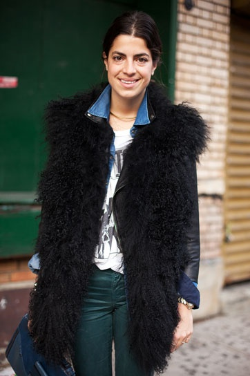 Leandra Medine of The Man Repeller. Obsessed with her.