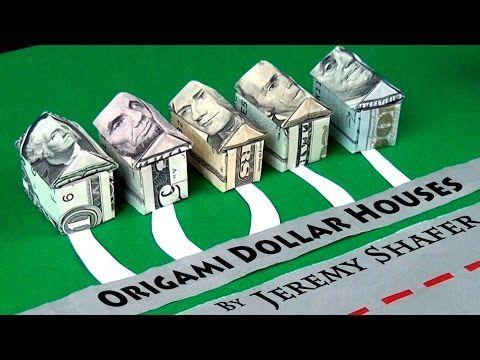 Origami Dollar House - YouTube