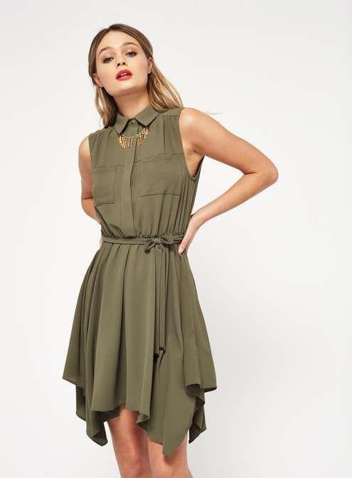 PETITE Hanky Hem Shirt Dress