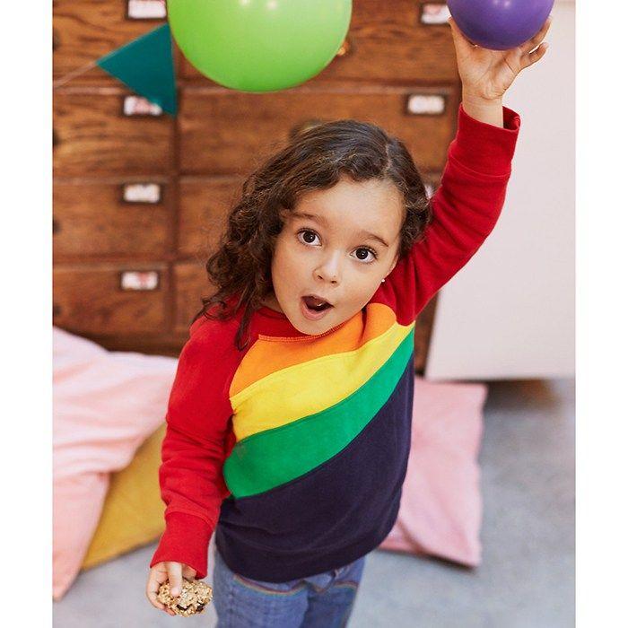 Mothercare Little Bird by Jools Rainbow Raglan Sweat Top