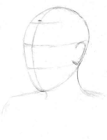 Нарисованная поэтапно карандашом марионетка 32
